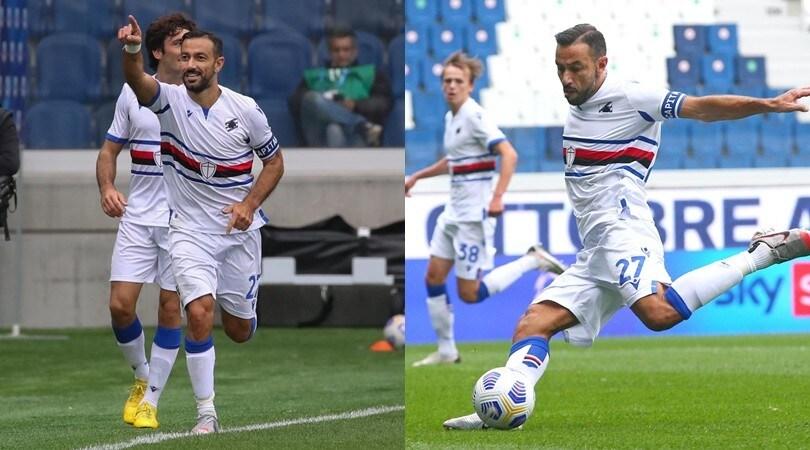Quagliarella da urlo: il 168° gol in A lancia la Samp. Crolla l'Atalanta