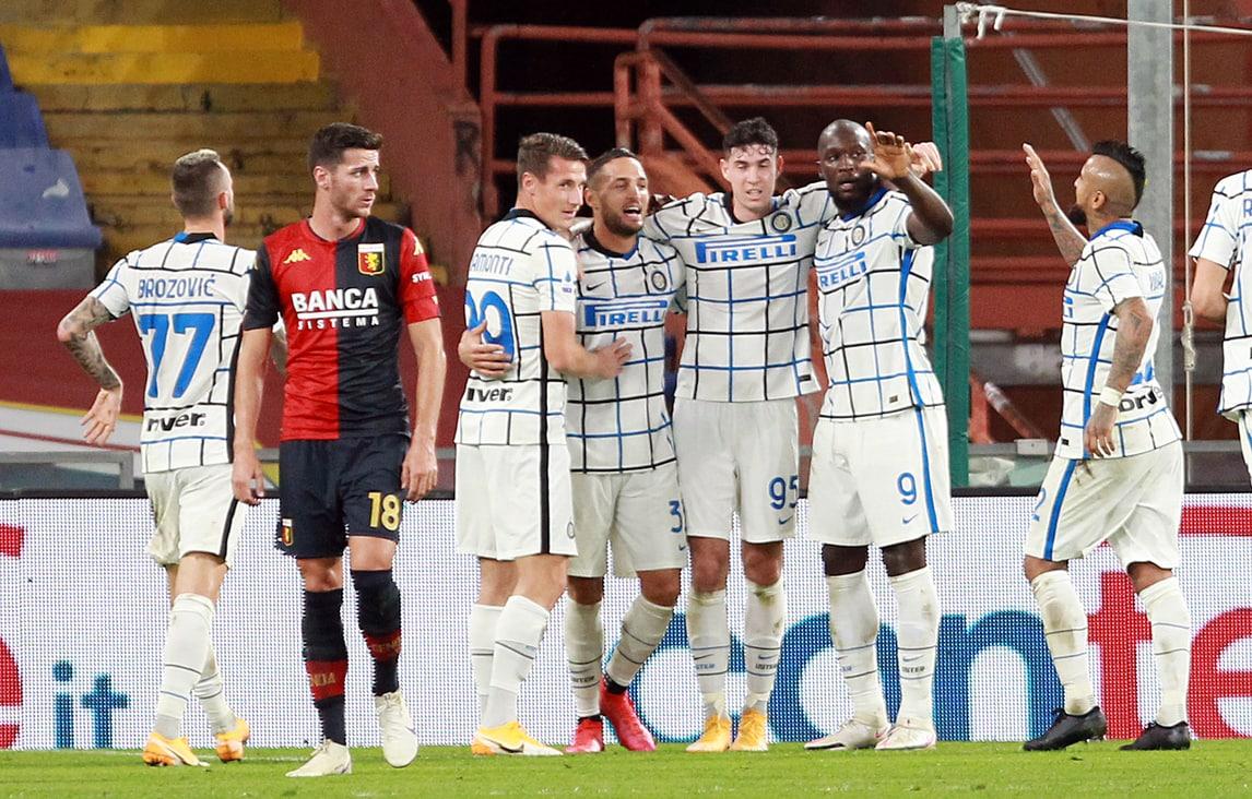 Segna sempre Lukaku: l'Inter vince a Genova, in gol anche D'Ambrosio