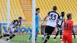 Kucka e tre pali beffano lo Spezia! 2-2 col Parma di Liverani