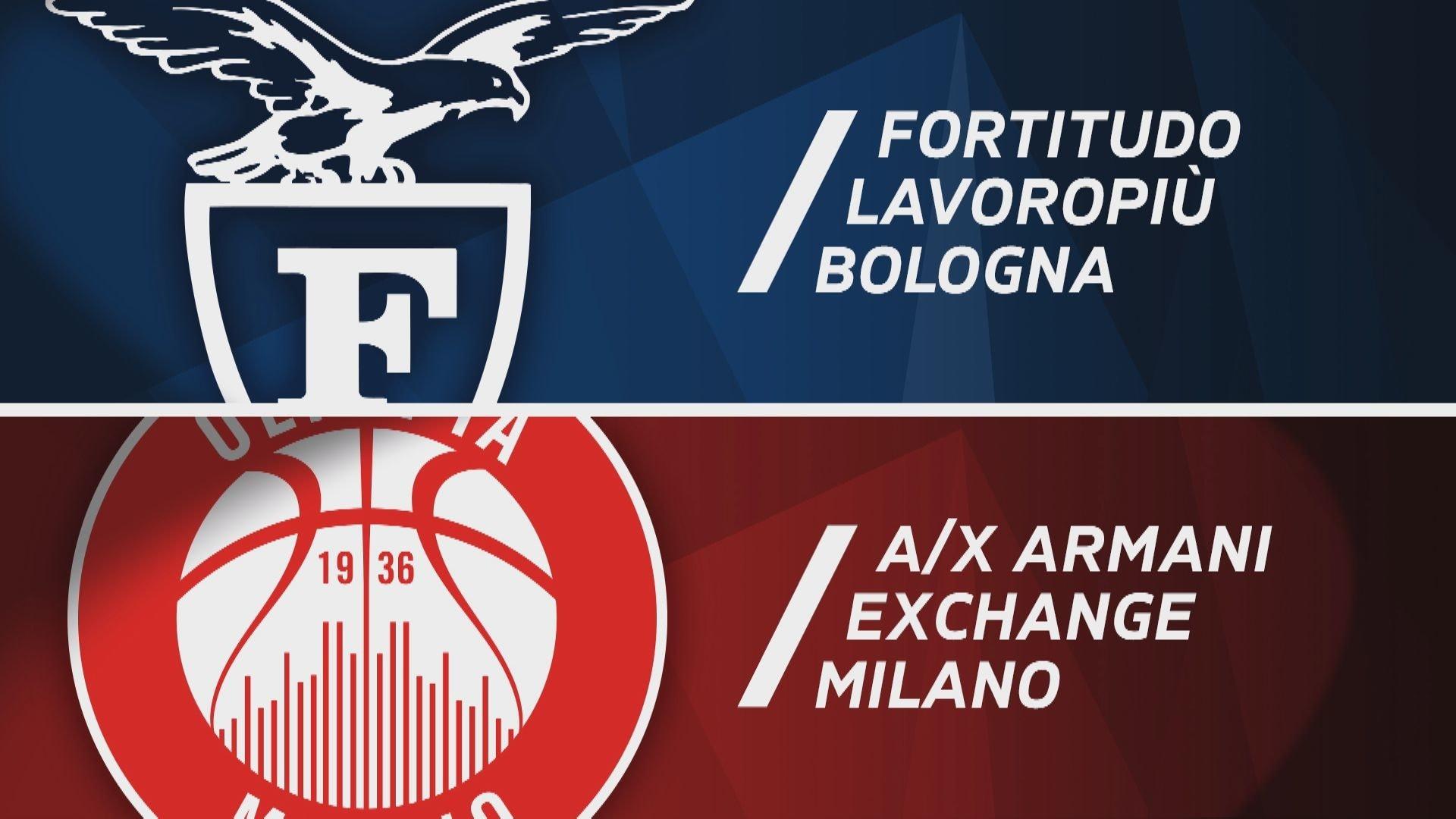 Fortitudo Lavoropiù Bologna - A|X Armani Exchange Milano 71-82