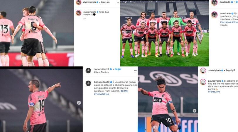 "Juve, i giocatori sui social dopo il Verona: ""Guardiamo avanti"""