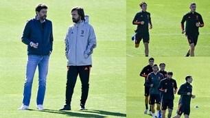 Agnelli a colloquio con Pirlo alla vigilia di Juve-Barcellona