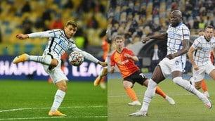 Barella e Lukaku sbattono contro la traversa: lo Shakhtar ferma l'Inter