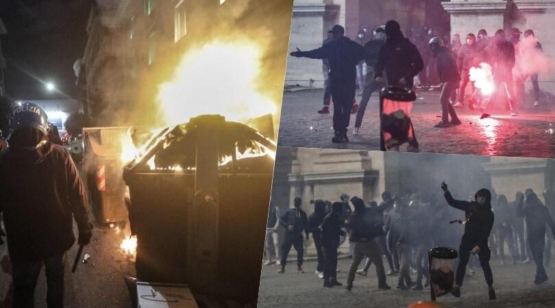 Scontri a Roma a Piazza del Popolo: cariche della polizia e bombe carta
