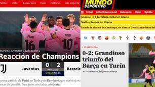 Juve ko, il trionfo del Barcellona sui siti dei giornali spagnoli