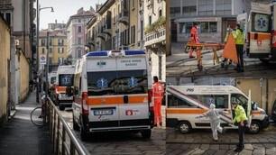 Coronavirus, ambulanze in coda al Pronto Soccorso del Fatebenefratelli