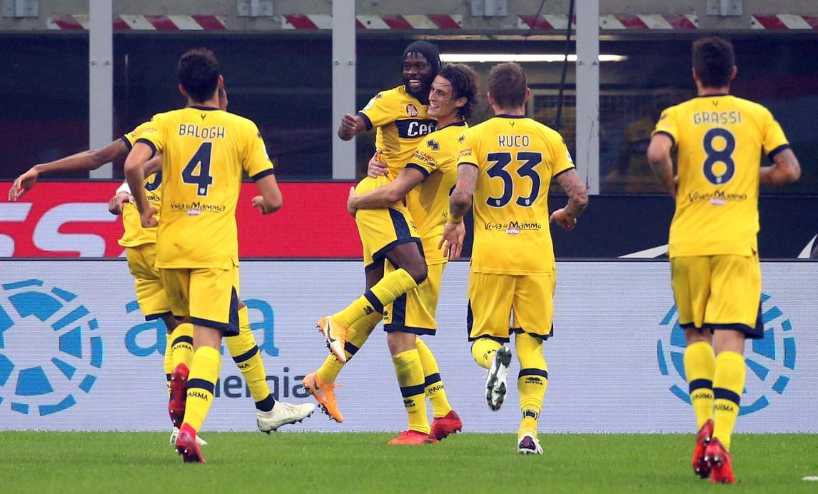 Al Parma non basta un Gervinho super: l'Inter pareggia con Perisic