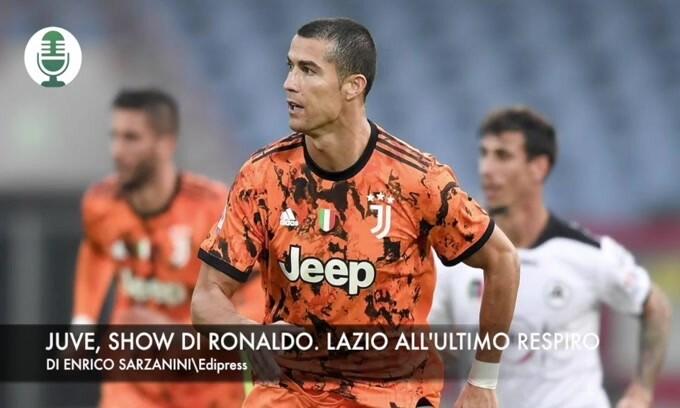 Juve, show di Ronaldo. Lazio all'ultimo respiro