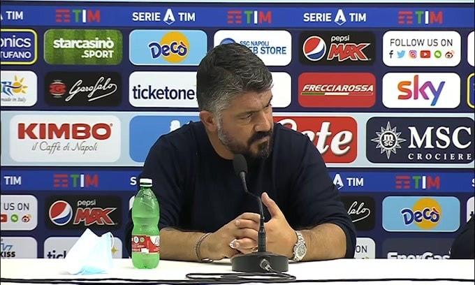 """Gattuso: """"Stiamo cercando poco Mertens. Ci stanno errori Osimhen"""""""