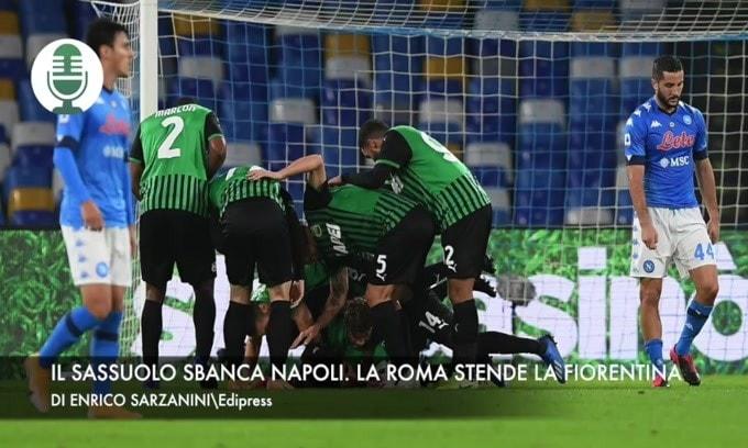 Il Sassuolo sbanca Napoli. La Roma stende la Fiorentina
