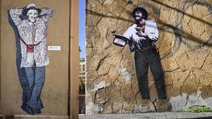 Roma, spuntano due murales per Gigi Proietti