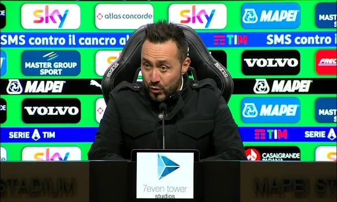 """De Zerbi: """"Primi 75 metri di campo da grande squadra, ultimi 25..."""""""