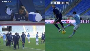 Cristiano Ronaldo si fa male in Lazio-Juve: infortunio alla caviglia