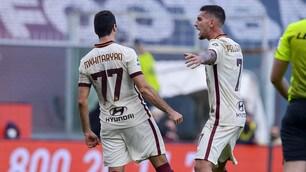 Roma, Mkhitaryan show: la sua tripletta manda il Genoa ko
