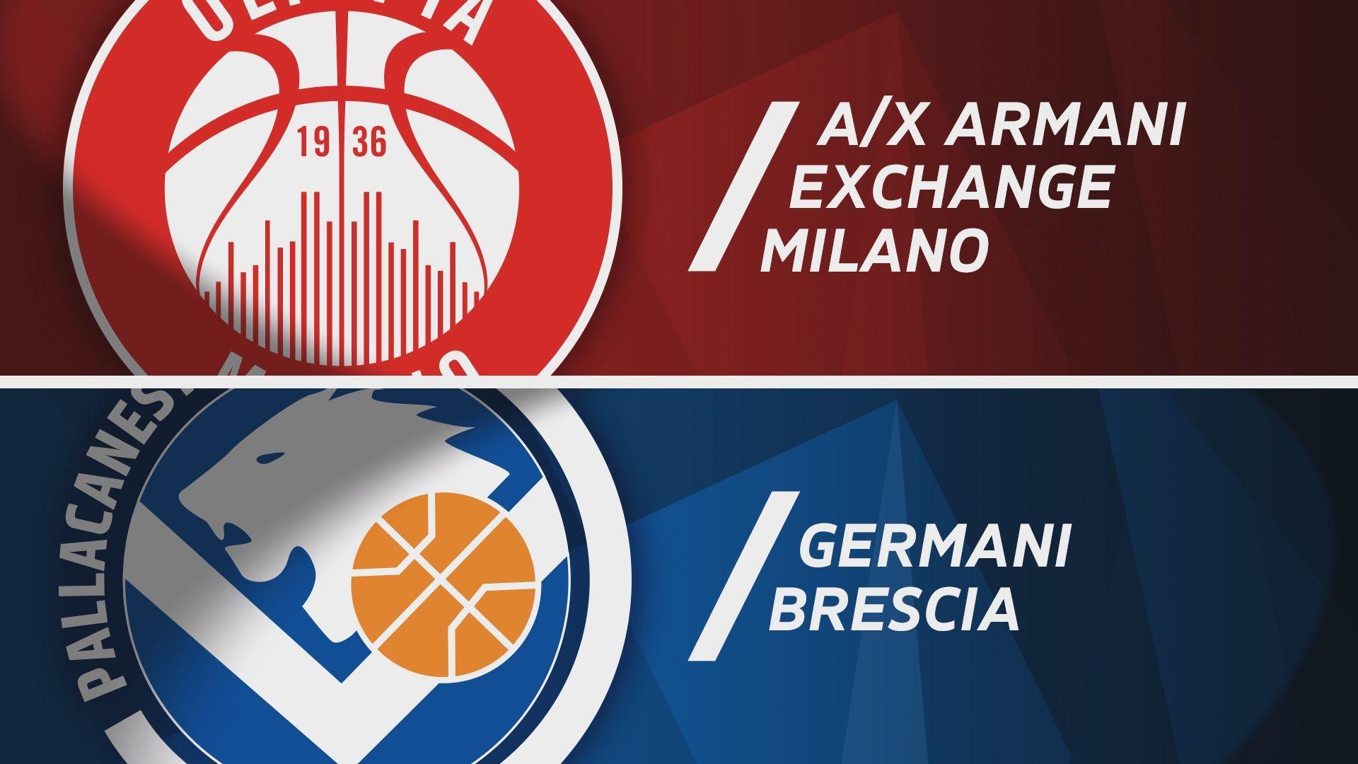 A|X Armani Exchange Milano - Germani Brescia 87-56
