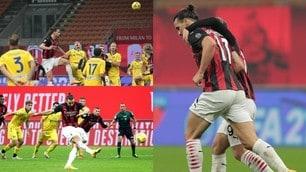 Milan, Ibrahimovic fa e disfa: incrocio, rigore fallito e pareggio al 93'!
