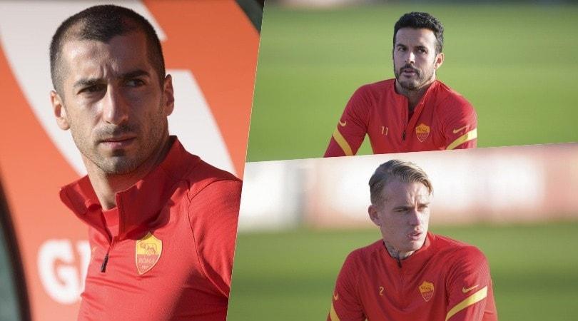 Roma, Mkhitaryan guida il gruppo alla ripresa degli allenamenti