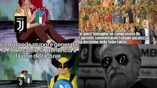 Juve-Napoli, confermato il 3-0 a tavolino: le ironie social