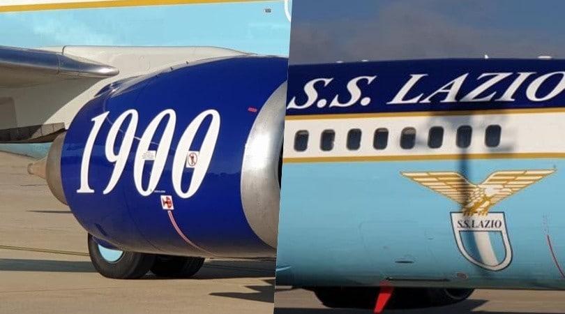 Lazio, l'arrivo del nuovo aereo personalizzato a Ciampino