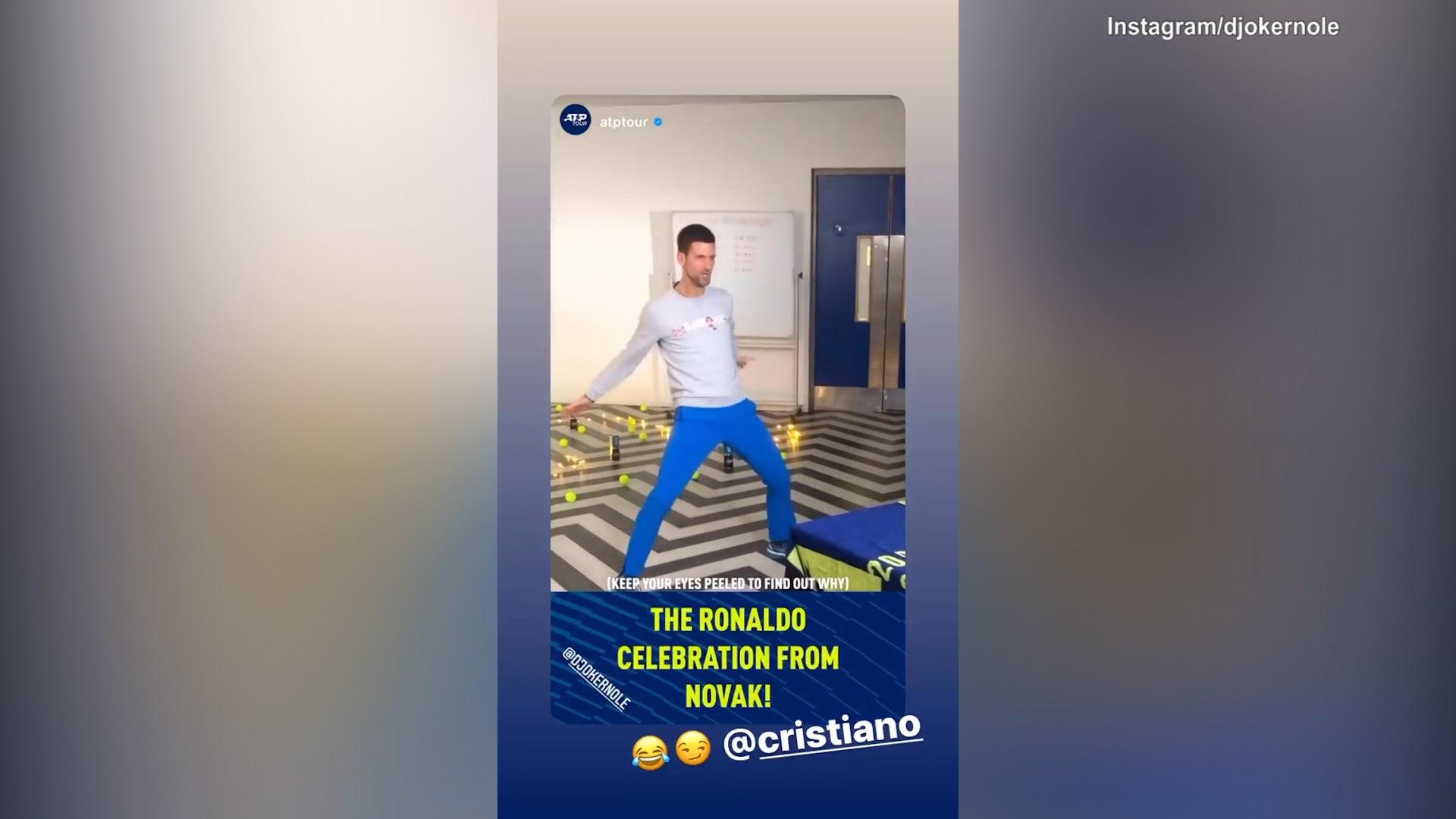 Djokovic, esultanza come Ronaldo... su Instagram