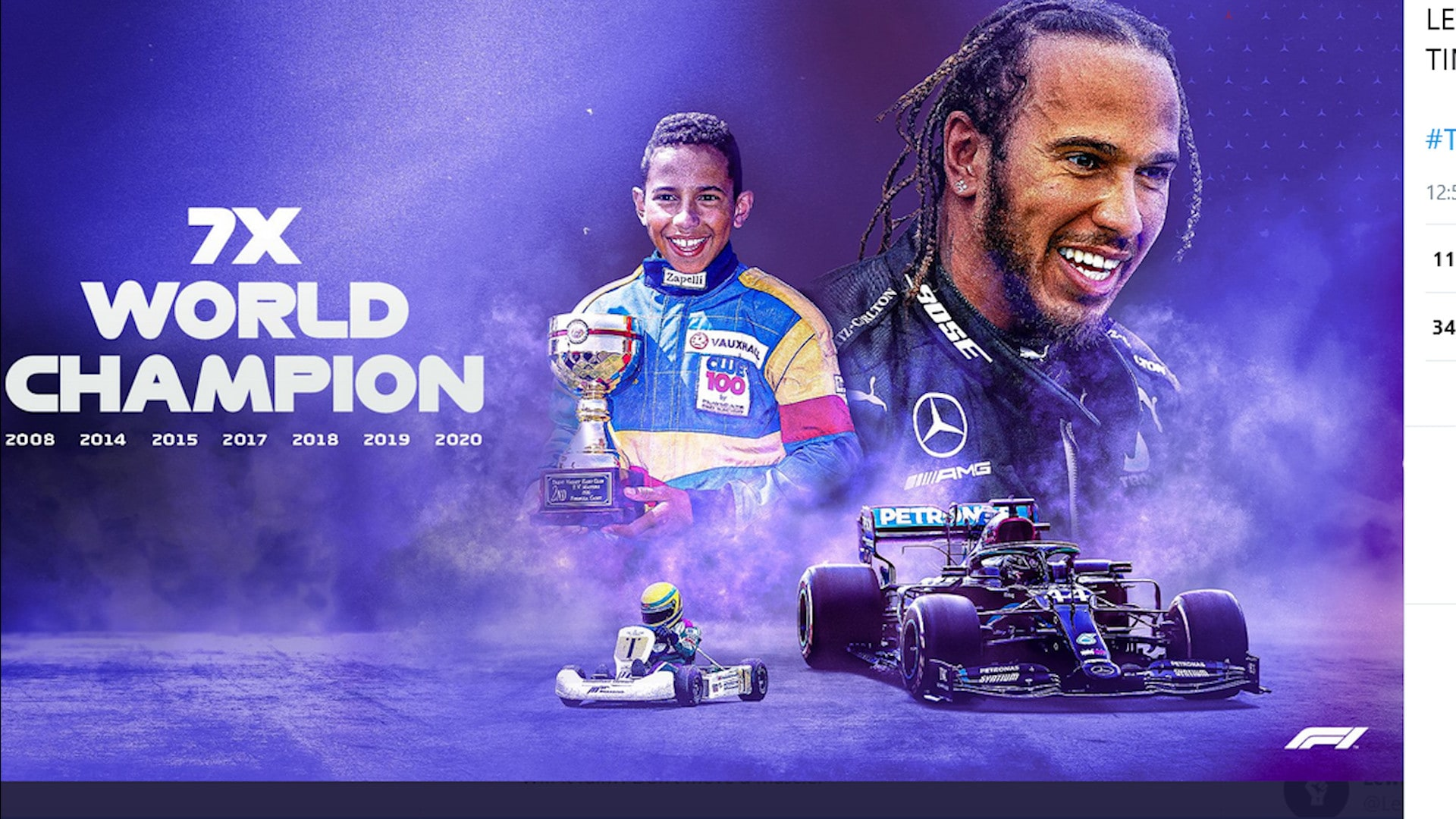 F1, sette volte Hamilton: vince ed è Campione del mondo!