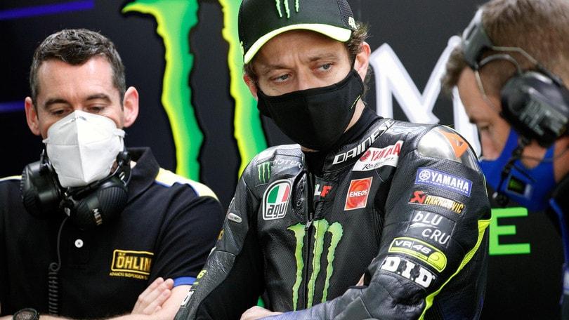 """Gp Valencia, Valentino Rossi: """"Mai stato così felice per un 12° posto"""""""