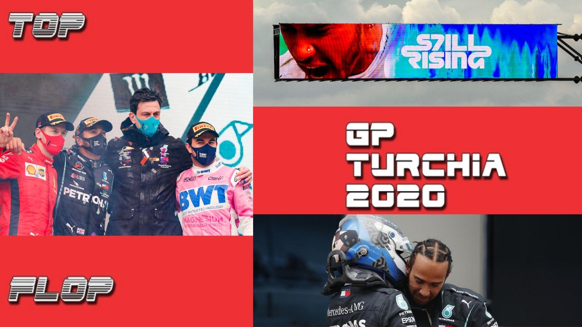 Hamilton e l'abbraccio con Vettel, la rabbia di Verstappen e... le emozioni in Turchia per i 7 titoli di Lewis VIDEO
