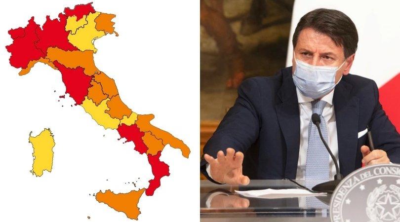 Cartina Lombardia Da Colorare.Covid La Nuova Mappa Dell Italia Chi Entra E Chi Esce Dalla Zona Rossa
