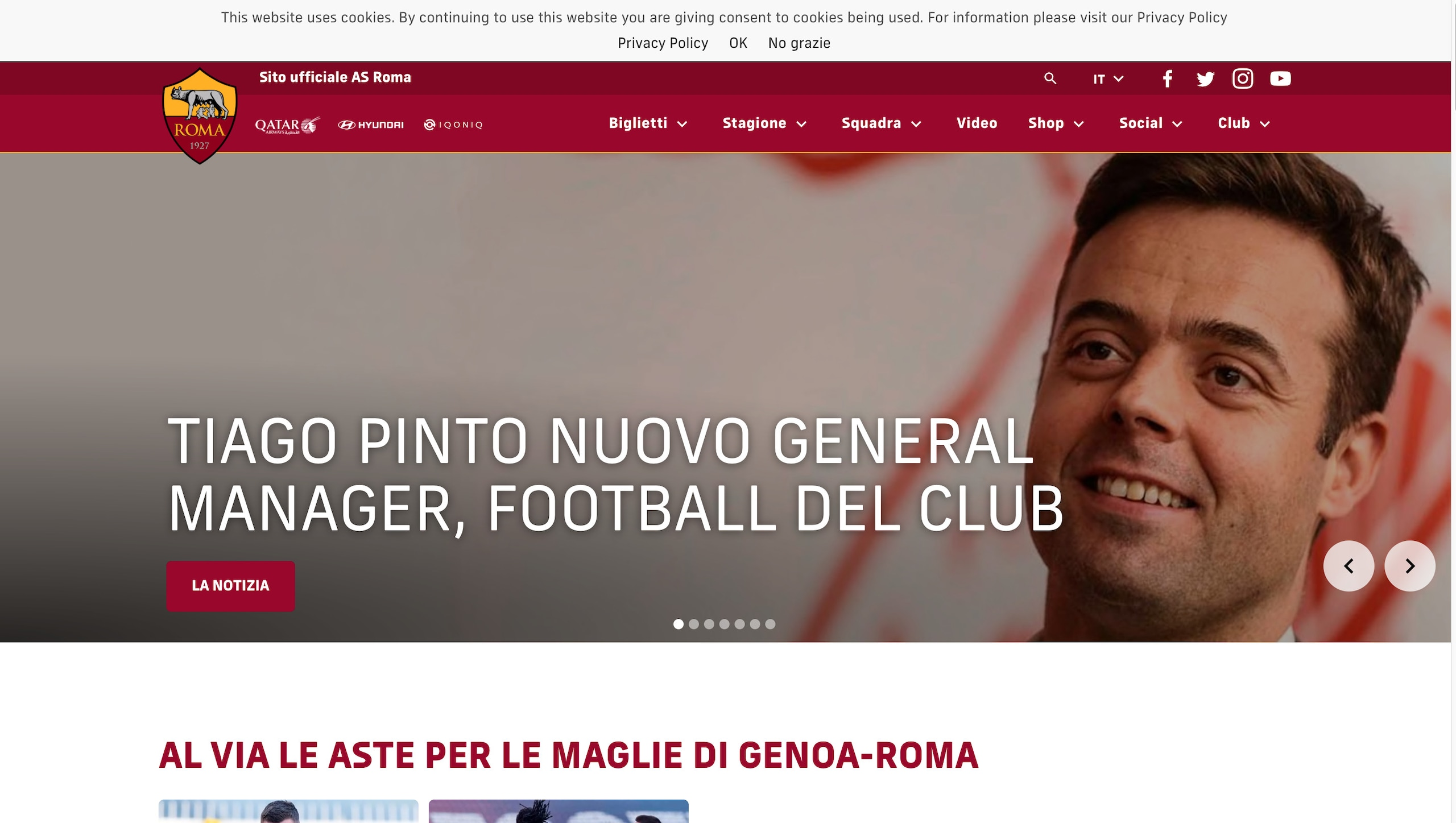 Roma, Tiago Pinto nuovo general manager