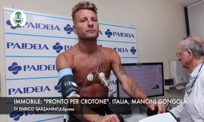"Immobile: ""Pronto per Crotone"". Italia, Mancini gongola"