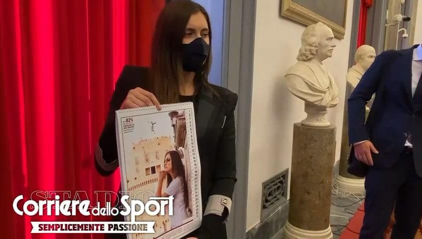 """Roma, Amra Dzeko presenta il calendario """"Amami e basta"""""""