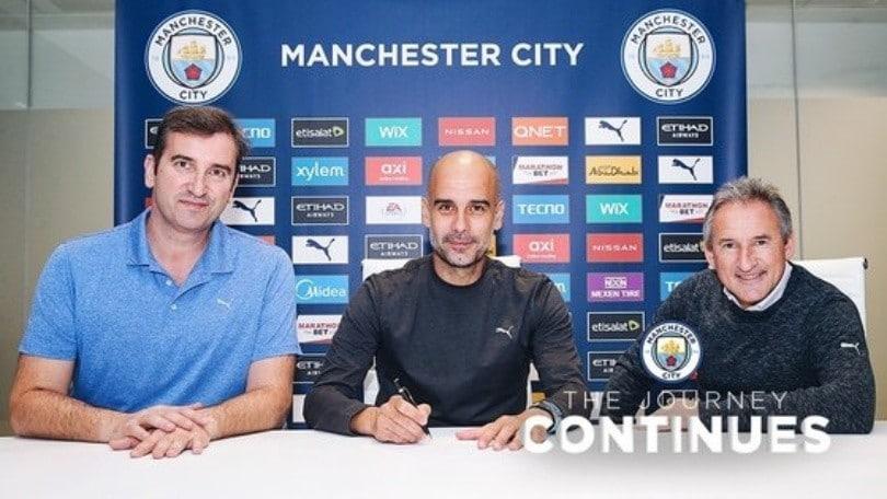 Ufficiale, Guardiola rinnova con il Manchester City fino al 2023