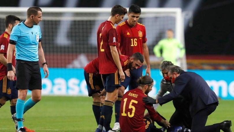 Real Madrid, Sergio Ramos infortunato: salta l'Inter