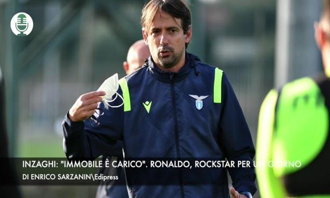 """Inzaghi: """"Immobile è carico"""". Ronaldo, rockstar per un giorno"""