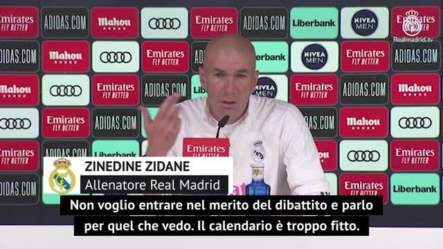 """Zidane storce il naso: """"Gli infortuni? Sono preoccupato"""""""