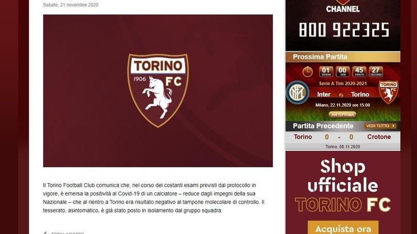 Covid, positivo un altro giocatore del Torino