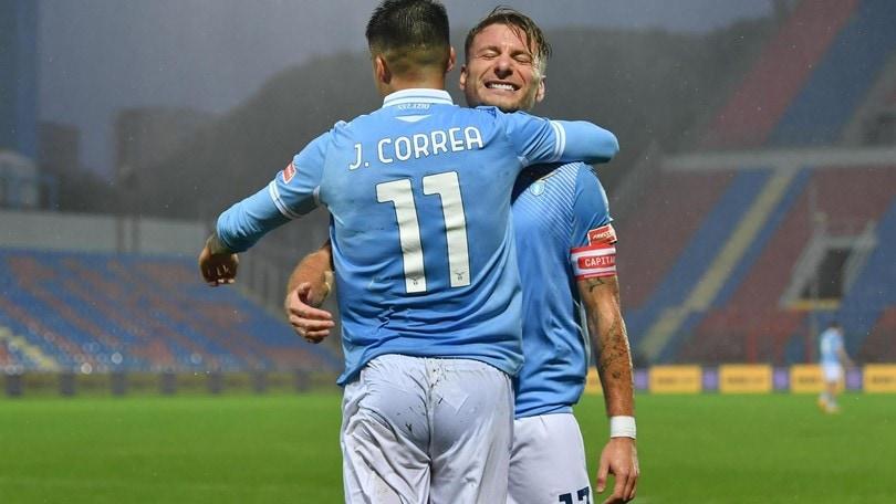 Crotone-Lazio 0-2: festa Inzaghi con Immobile e Correa