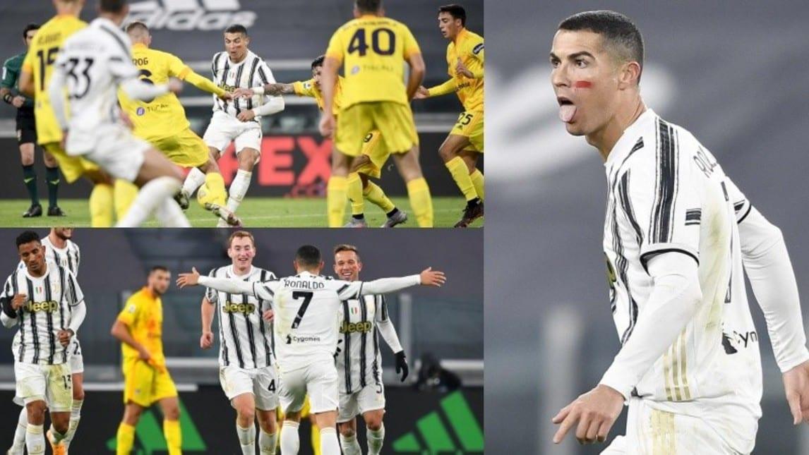 CR7 micidiale: nel primo tempo ci mette una manciata di minuti a stendere il Cagliari e a regalare a Pirlo i tre punti