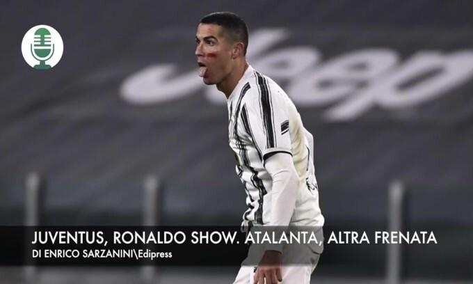 Juventus, Ronaldo show. Atalanta, altra frenata