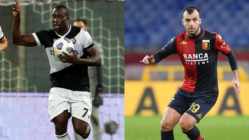 Diretta Udinese-Genoa ore 18: probabili formazioni, come vederla in tv e in streaming