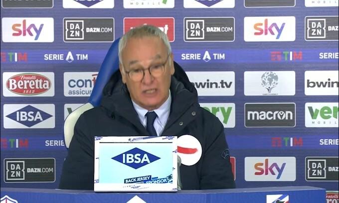 """Ranieri: """"L'espulsione? L'arbitro si è sentito offeso"""""""