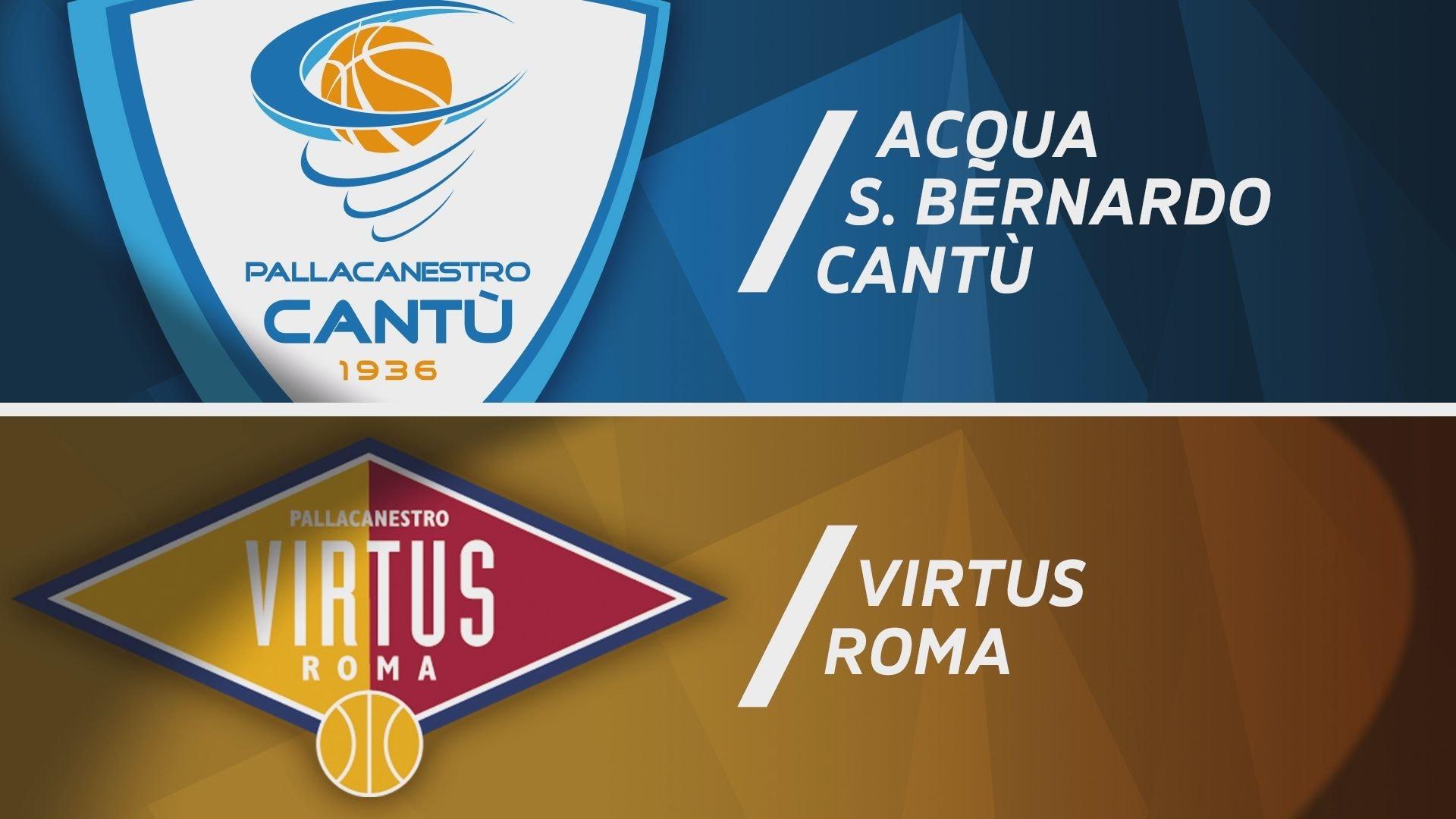 Acqua S.Bernardo Cantù - Virtus Roma 101-85