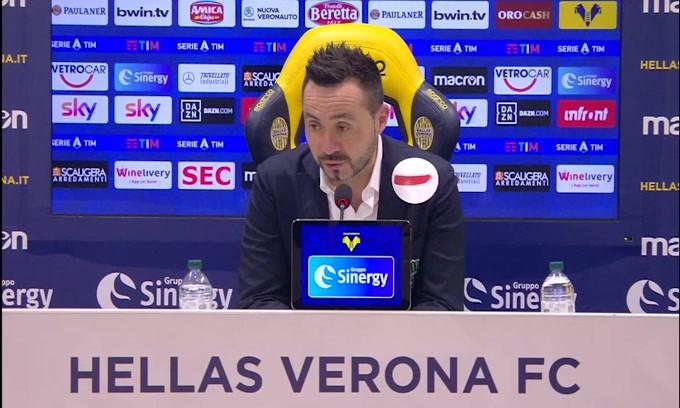 """De Zerbi: """"Non è stata la nostra miglior gara"""""""