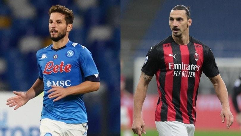 Diretta Napoli-Milan ore 20.45: come vederla in tv, in streaming e formazioni ufficiali