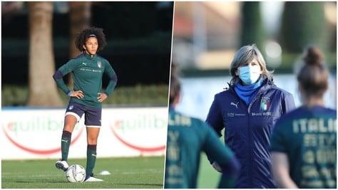 Italia femminile a Coverciano: Bertolini prepara la sfida alla Danimarca