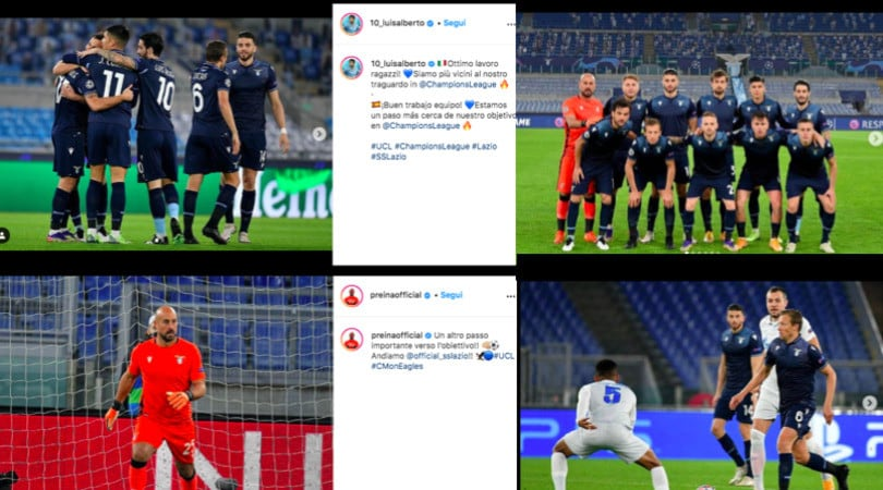 Lazio, che festa sui social dopo la vittoria in Champions