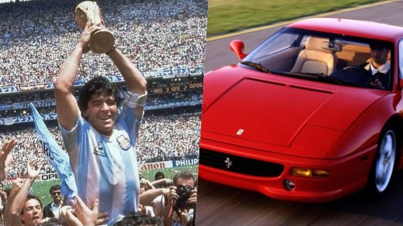 Tutte le auto di Maradona, il Pibe de Oro