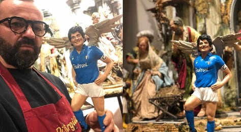 Maradona diventa un angelo nel presepe napoletano