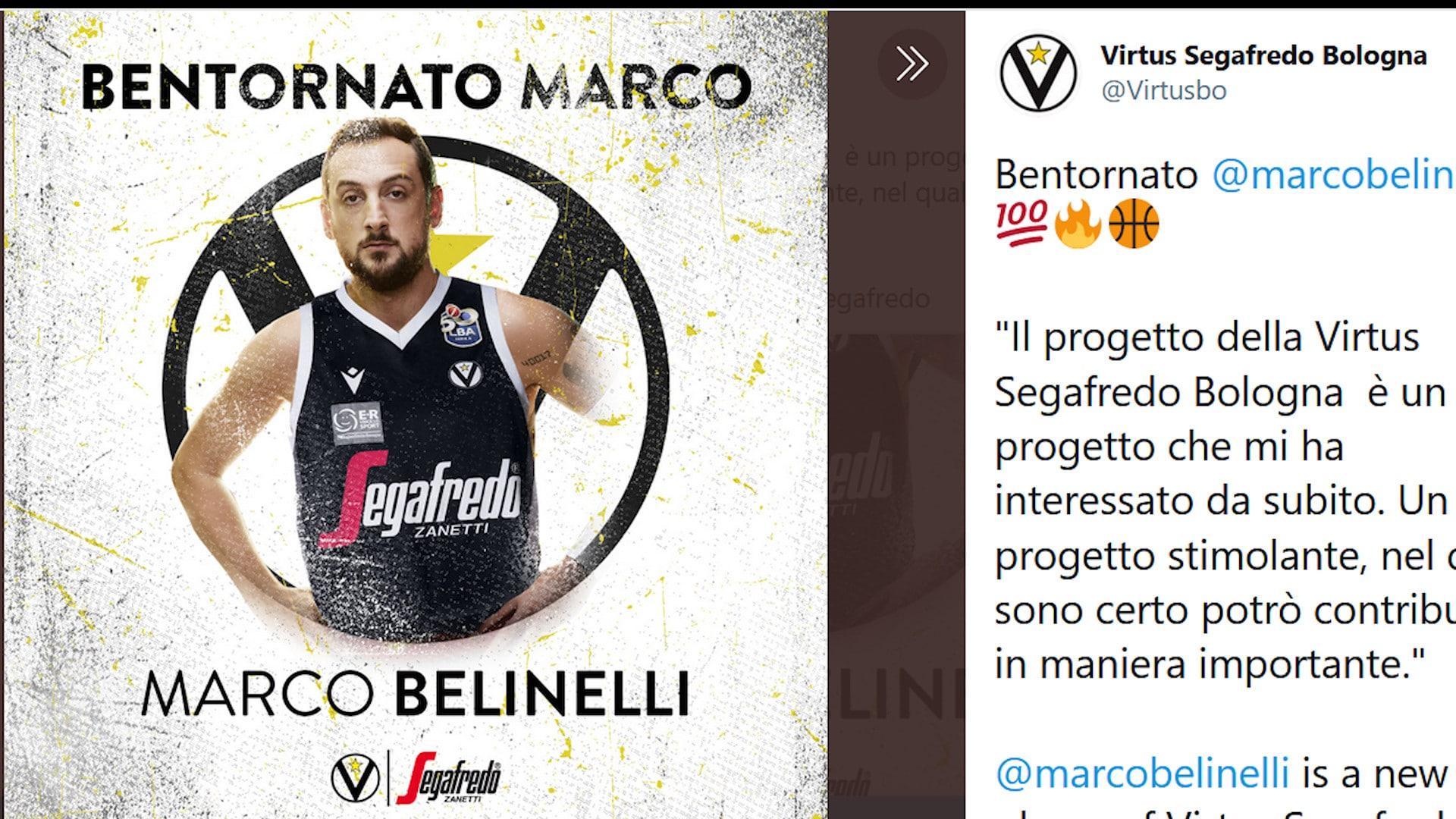 Colpaccio Virtus Bologna: preso Marco Belinelli