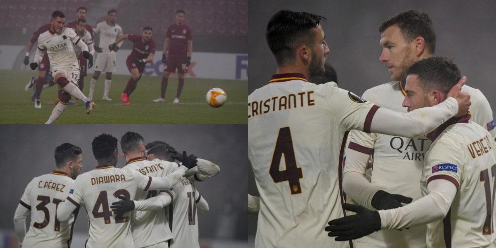 Roma, show di Veretout! Fonseca batte il Cluj e vola ai sedicesimi